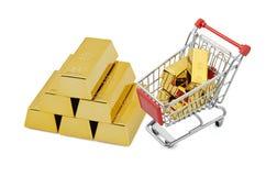 Compras del oro Imágenes de archivo libres de regalías