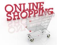 Compras en línea Foto de archivo libre de regalías
