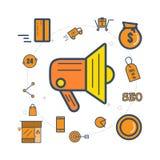 Compras en línea ilustración del vector