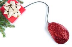 Compras en línea de la Navidad Fotografía de archivo