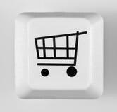 Compras en línea del botón Fotos de archivo libres de regalías