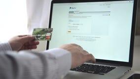 Compras en línea del Internet almacen de metraje de vídeo
