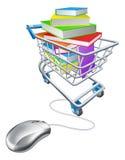 Compras en línea del libro de la educación o de Internet Imagen de archivo