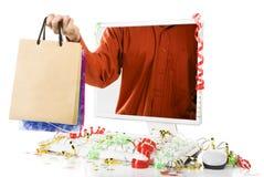 Compras en línea estacionales fotografía de archivo libre de regalías