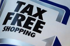 Compras exentas de impuestos Foto de archivo libre de regalías