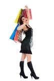 Compras expresivas de la mujer fotos de archivo libres de regalías