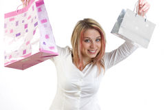 Compras felices Fotos de archivo libres de regalías