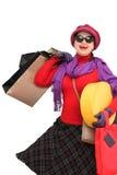 Compras felices de la mujer Fotografía de archivo