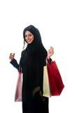 Compras femeninas árabes Imágenes de archivo libres de regalías