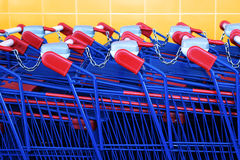 Compras Karts Fotografía de archivo libre de regalías