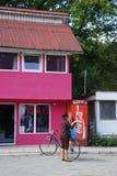 Compras rosadas Foto de archivo