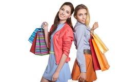Compras, venta y concepto de los regalos Foto de archivo libre de regalías