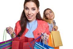 Compras, venta y concepto de los regalos Fotografía de archivo libre de regalías
