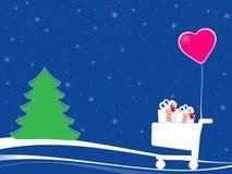 Compras y amor de la Navidad Imagenes de archivo