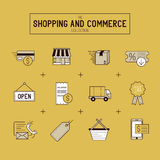 Compras y sistema al por menor del icono Imagenes de archivo