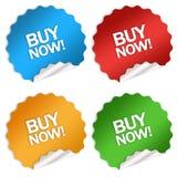 Compre agora a etiqueta Imagens de Stock Royalty Free