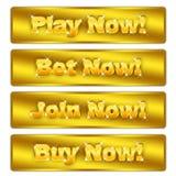 Compre agora, jogue agora, junte-se agora, aposta agora Fotos de Stock Royalty Free