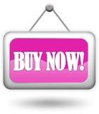 Compre agora o sinal Imagem de Stock