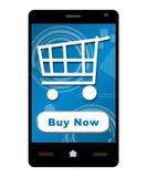 Compre agora Smartphone Imagem de Stock