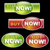 Compre agora a tecla Fotografia de Stock Royalty Free
