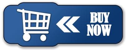 Compre agora a tecla azul Fotos de Stock
