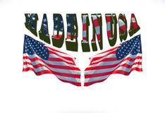 Compre al americano para hecho en logotipo del producto de los E.E.U.U. fotos de archivo libres de regalías
