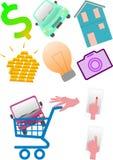 Compre bens luxuosos Ilustração Stock