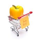 Compre bio produtos Fotografia de Stock