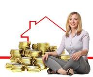 Compre a casa Imagem de Stock