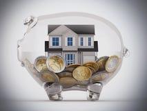 Compre a casa com as economias fotos de stock