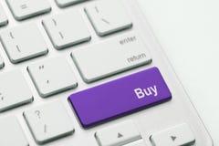 Compre a chave no lugar da tecla enter Foto de Stock Royalty Free