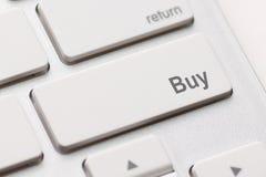 Compre a chave no lugar da tecla enter Imagem de Stock