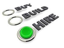 Compre a construção ou contrate-a Fotos de Stock Royalty Free