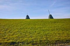 Compre el heno y los prados verdes cerca montan Rigi, Suiza Fotos de archivo libres de regalías