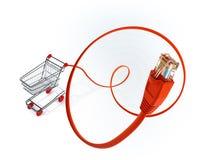 Compre em linha Imagem de Stock