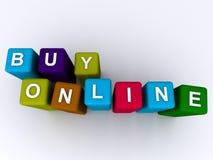 Compre em linha Imagem de Stock Royalty Free