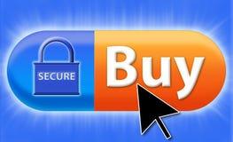 Compre em linha seguro Fotos de Stock Royalty Free