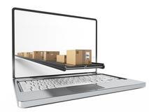 Compre en línea y reciba fácilmente en casa representación 3d ilustración del vector