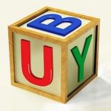 Compre medios del bloque las compras y comercio al por menor libre illustration