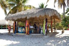 Compre na praia no console de Catalina Foto de Stock