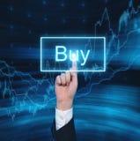 Compre o botão virtual Imagens de Stock