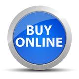 Compre o bot?o redondo azul em linha ilustração royalty free
