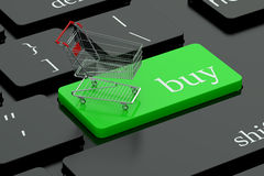 Compre o botão do teclado Fotos de Stock