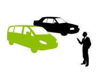 Compre o carro ecológico verde ilustração royalty free