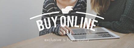 Compre o conceito da compra da compra em linha da consultação Fotografia de Stock