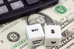 Compre o dólar americano Foto de Stock Royalty Free