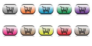 Compre os botões da Web ajustados Imagens de Stock Royalty Free