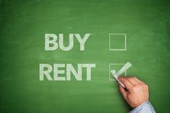 Compre ou alugue no quadro-negro ilustração royalty free