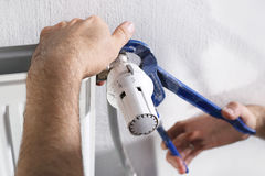 Comprehensive maintenance services, plumbing Stock Photo