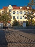 Comprehensive school in Zatec town. Czech Republic royalty free stock images